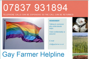 Gay Farmer Helpline Flyer
